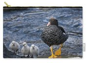 Kelp Goose With Goslings Carry-all Pouch