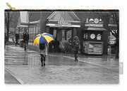Kendall Square Rainy Day Cambridge Ma Blue And Yellow Carry-all Pouch