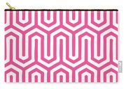 Key Maze With Border In French Pink Carry-all Pouch