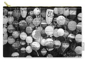Key West Lobster Buoys Black And White Carry-all Pouch