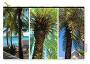 Key West Palm Triplets Carry-all Pouch by Susanne Van Hulst