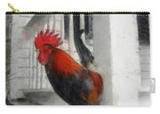 Key West Porch Rooster Carry-all Pouch by Michelle Calkins