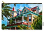 Key West Southern Most Hotel Carry-all Pouch by Bill Cannon