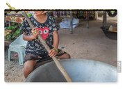 Khmer Girl Makes Sugar Cane Candy Carry-all Pouch