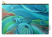 Kina Sea Anemone With  Stingray By Reina Cottier Carry-all Pouch