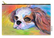 King Charles Cavalier Spaniel Dog Painting Carry-all Pouch