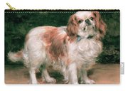 King Charles Spaniel Carry-all Pouch by George Sheridan Knowles