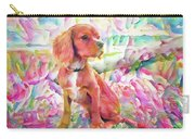 King Charles Spaniel Pastel Watercolors Carry-all Pouch
