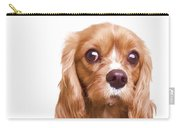 King Charles Spaniel Puppy Carry-all Pouch by Edward Fielding