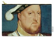 King Henry Viii Carry-all Pouch by Hans Holbein the Younger