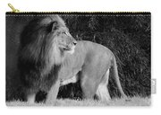 King Of Beasts Black And White Carry-all Pouch