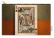 King Of Clubs In Wood Carry-all Pouch