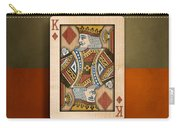 King Of Diamonds In Wood Carry-all Pouch