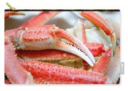 King Snow Crab Legs Ready To Eat Closeup Carry-all Pouch by Alex Grichenko