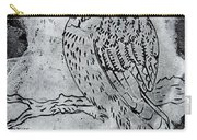 Kingfisher White On Black Carry-all Pouch