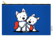 Kiniart Red Sock Westies Carry-all Pouch