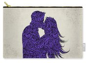 Kissing Couple Silhouette Ultraviolet Carry-all Pouch