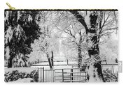 Kissing Gate In The Snow Carry-all Pouch