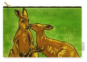 Kissing Kangaroos Print Carry-all Pouch