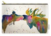 Kissing Moose Carry-all Pouch