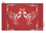 Kissing Roosters 4 Carry-all Pouch