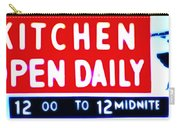 Kitchen Open Daily Carry-all Pouch by Bill Cannon