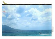 Kite Surfing With A Nevis Background Carry-all Pouch