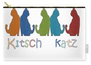Kitsch Cats Silhouette Cat Collage Pattern Isolated Carry-all Pouch