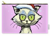 Kitten In Christmas Hat Carry-all Pouch
