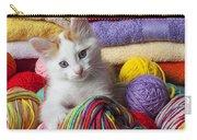 Kitten In Yarn Carry-all Pouch