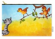 Kitten Scaring The Birds Carry-all Pouch