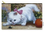 Kitten With Snail And Ball Carry-all Pouch