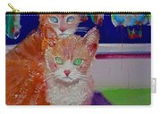 Kittens With Wild Wallpaper Carry-all Pouch