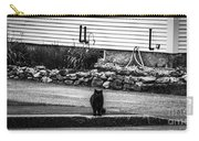 Kitty Across The Street Black And White Carry-all Pouch