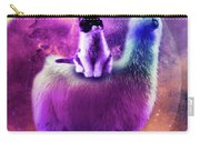 Kitty Cat Riding On Rainbow Llama In Space Carry-all Pouch