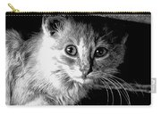 Kitty In Black White Carry-all Pouch