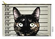 Kitty Mugshot Carry-all Pouch by Nicklas Gustafsson