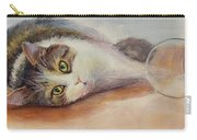 Kitty With Spilled Milk Carry-all Pouch