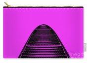 Kk100 Shenzhen Skyscraper Art Pink Carry-all Pouch