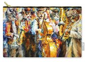 Klezmer Cats - Palette Knife Oil Painting On Canvas By Leonid Afremov Carry-all Pouch
