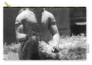 Kneeling Monkey In Black And White Carry-all Pouch