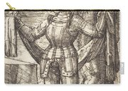 Knight In Armour With Bread And Wine Carry-all Pouch