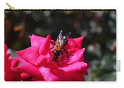 Knockout Rose And Bumblebee Carry-all Pouch