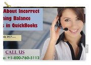 Know About Incorrect Beginning Balance Occurs In Quickbooks Carry-all Pouch