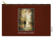 Knowledge Inspirational Motivational Poster Art Carry-all Pouch by Christina Rollo