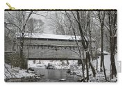 Knox Valley Forge Covered Bridge In Winter Carry-all Pouch