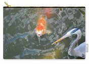 Koi And Great Blue Heron Carry-all Pouch