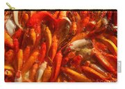 Koi Fishes In Feeding Frenzy Carry-all Pouch