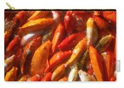 Koi Fishes In Feeding Frenzy Upward Carry-all Pouch