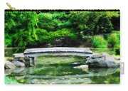Koi Pond Bridge - Japanese Garden Carry-all Pouch